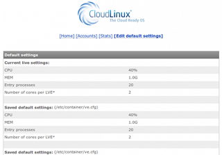 CloudLinux License Screenshot