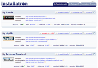 Installatron License Screenshot