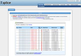 Ksplice license screenshot