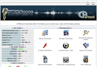 WHMSonic license screenshot