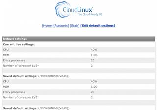 CloudLinux License Screenshot