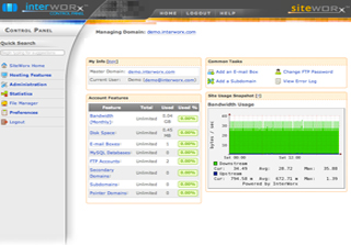 InterWorx License Screenshot