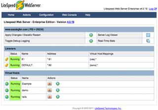 LiteSpeed license screenshot