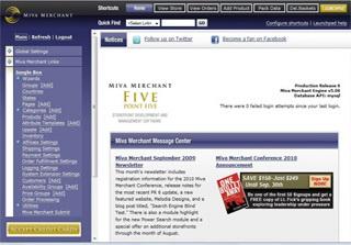 Miva Merchant Screenshot