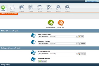 RVSiteBuilder license screenshot