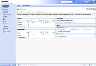 Virtuozzo license screenshot